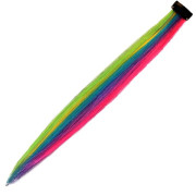 Crazy Colour Rainbow Mix Clip In Extensions / Haarteile ,  50 cm