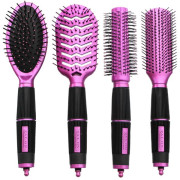 Salon Professional, 4-teiliges Haarbürsten Set - Pink
