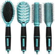 Hair Brush Kit 4 set - Salon Professional - türkis