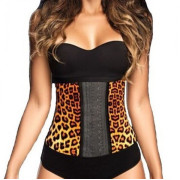 AVA® Waist Trainer Latex  - Leopardenmuster
