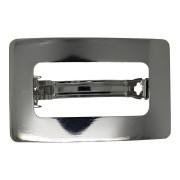 SOHO® Rectangle Metal Hair Clip, Haarspange - Silber