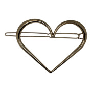 SOHO® Heart XL Metal Hair Clip, Haarspange - Gold
