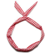 Flexi Headband with wire - checkered