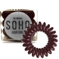 SOHO® Spiral Hair Ring Elastics, Haargummis Chocolate brown - 3 Stck.