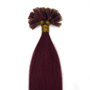 60 cm Hot Fusion Haar Extensions Rot 33#