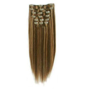 Clip In Extensions 65 cm 4/27# Dunkelblond Mix