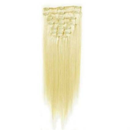 Clip In Extensions 50 cm #60 Platinblond